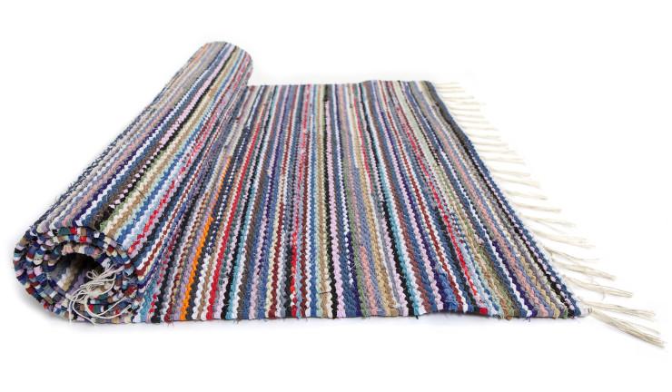 Finnish Rag Rug. Cotton rug. Scandinavian design. Made in Finland.